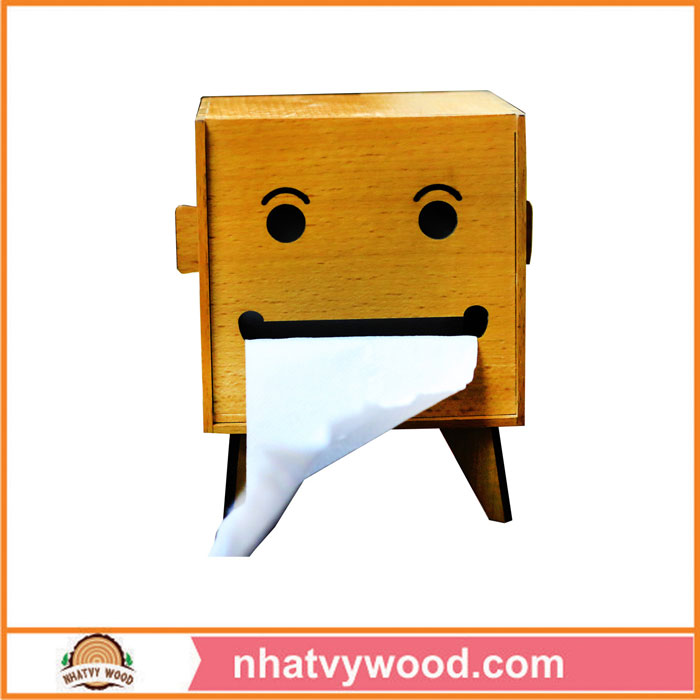 Wood tissue box KG05
